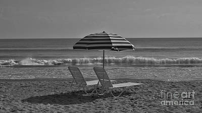 Photograph - Seashore In Black And White by Bob Sample