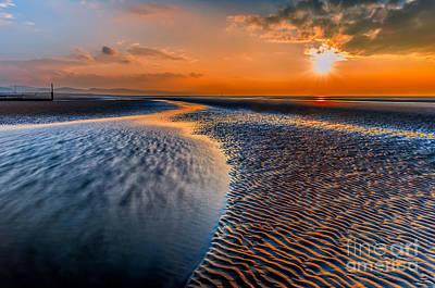 Coastline Digital Art - Seashore Sunset by Adrian Evans