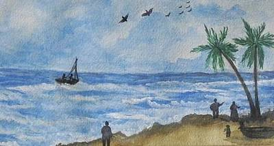 Painting - Seashore by Usha Rai
