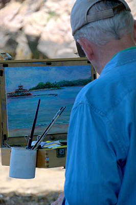Photograph - Seaside Artist by Caroline Stella