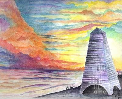 Painting - Seaside At Sunset by Chris Bajon Jones