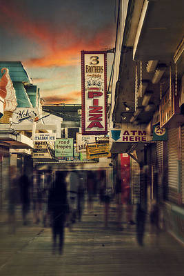 Seaside Boardwalk Art Print by Kim Zier