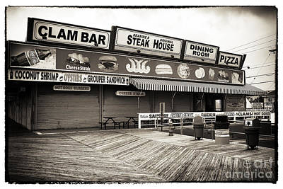 Seaside Clam Bar Art Print by John Rizzuto