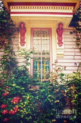 Photograph - Seaside Cottage Window by Debra Fedchin