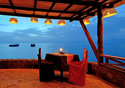 Dinner For Two Photograph - Romantic Dinner For Two - Saint Lucia by Brendan Reals