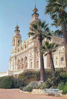 Monaco Photograph - Seaside Façade Of The Salle Garnier, Opéra De Monte-carlo Colour Photo by .