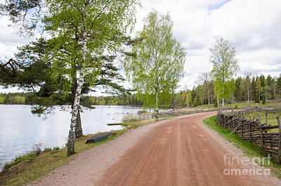 Photograph - Seaside Gravel Road by Kennerth and Birgitta Kullman
