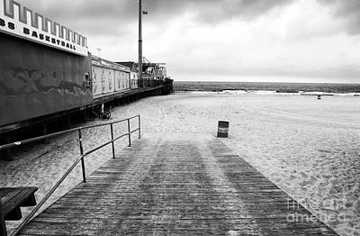 Photograph - Seaside Heights Beach In Black And White by John Rizzuto