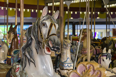 Seaside Heights Casino Carousel  Art Print by Susan Candelario