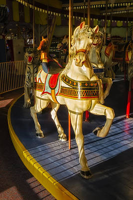 Seaside Heights Casino Pier Carousel  Art Print by Susan Candelario