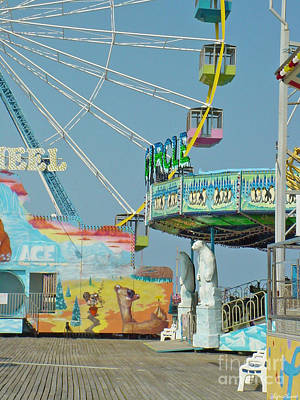 Photograph - Seaside Funtown Ferris Wheel by Lyric Lucas