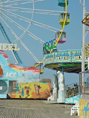 Photograph - Seaside Funtown Ferris Wheel by Lyric Lucas