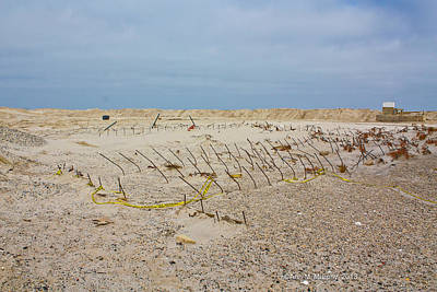 Photograph - Seaside Heights...beyond The Dunes. After Hurricane Sandy by Ann Murphy