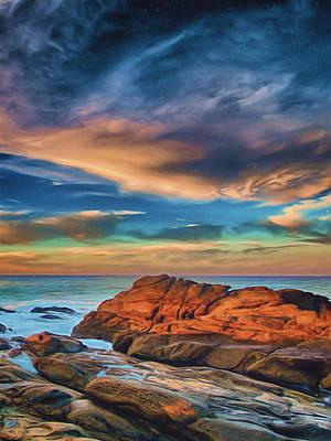 Malibu Painting - Seaside by Joel Olives