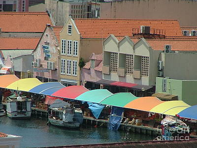 Photograph - Seaside Market In Curacao by Neil Zimmerman