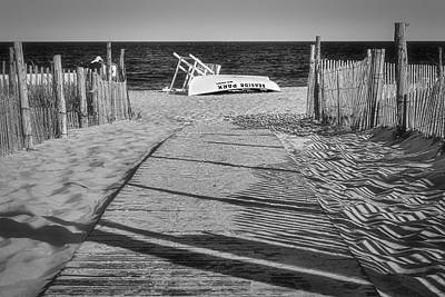 Photograph - Seaside Park New Jersey Shore Bw by Susan Candelario