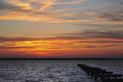 Photograph - Seaside Park Pier Sunset by Terry DeLuco