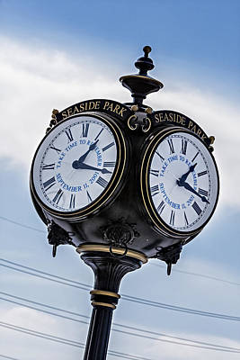 Seaside Heights Photograph - Seaside Park September 11 Memorial Clock by Susan Candelario