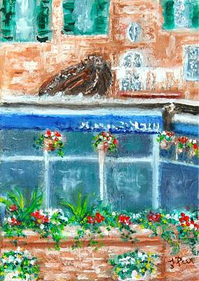 Painting - Seaside Restaurant by Tracey Peer