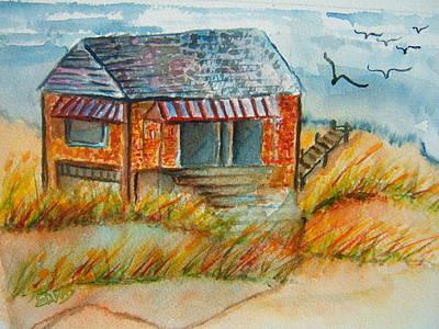 Salt Air Painting - Seaside Seclusion by Elaine Duras