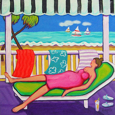 Seaside Siesta Art Print