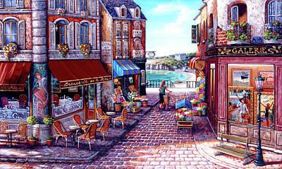 Painting - Seaside Stroll by John P. O'brien