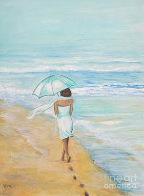 Painting - Seaside Stroll by Leslie Allen