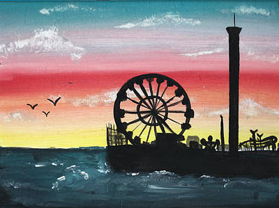 Seaside Sunset Print by Amanda Smentkowski