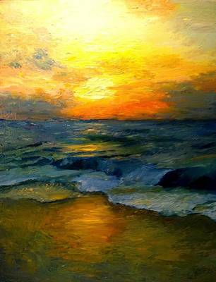 Painting - Seaside Sunset by Gail Kirtz