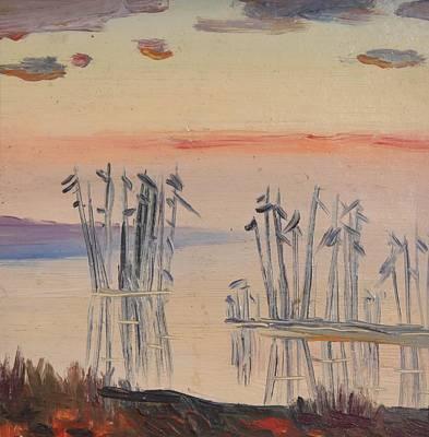 Nature Depiction Painting - Seaside Sunset by Stefan Shikerov