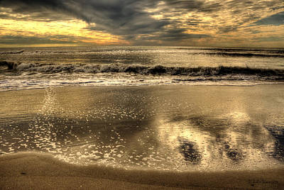 Art Print featuring the photograph Seaside Sunset by Julis Simo