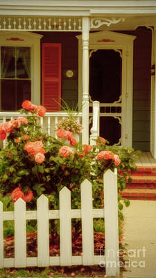 Photograph - Seaside Victorian Cottage by Debra Fedchin