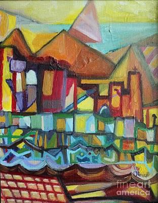 Painting - Seaside Village by Ellen Howell