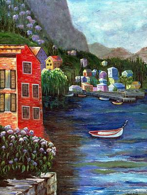 Painting - Seaside Village by Jamie Frier