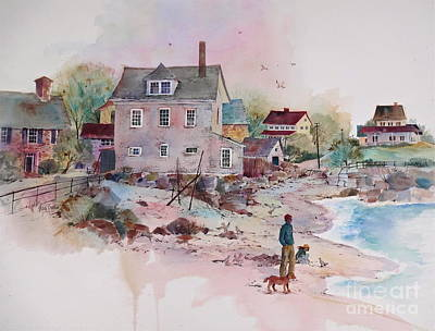 Seaside Village Art Print by Sherri Crabtree