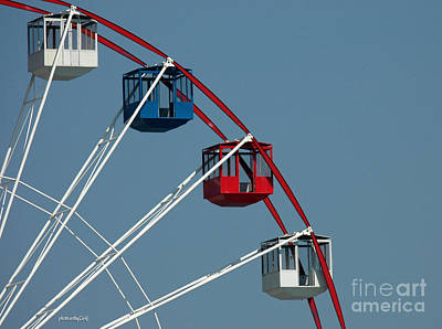 Seaside's Ferris Wheel Art Print