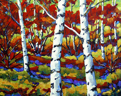 Quebec Painting - Season Of Fire By Prankearts by Richard T Pranke