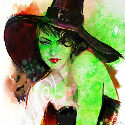 Fashion Illustration Painting - Season Of The Witch by Renee Reeser Zelnick