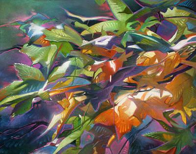 Seasonal Fling Art Print by TM Rhyno