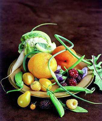 Seasonal Fruit And Vegetables Art Print by Romulo Yanes