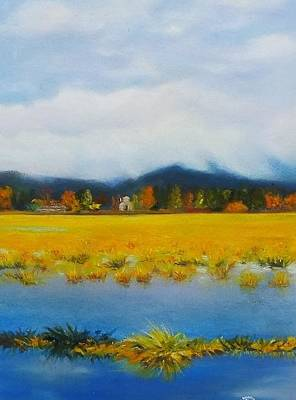 Seasonal Pond Original by Marie-Claire Dole