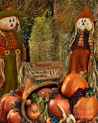 Horn Of Plenty Painting - Seasonal Pumpkins  by Peter Piatt
