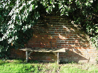 Seasoned Bench Art Print by Bev Conover