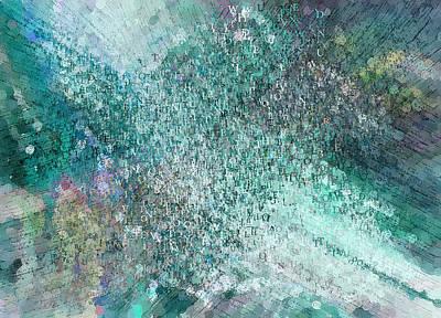 Colorful Abstract Mixed Media - Seasoned Graffiti Artist Abstract Painting by Georgiana Romanovna