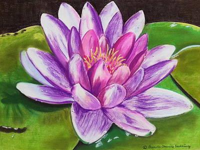 Painting - Seasons Final Lily by Brenda Stevens Fanning