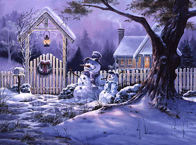 Season's Greeters Art Print by Michael Humphries