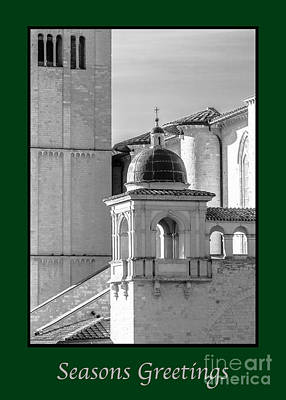 Photograph - Seasons Greeting With Basilica Details by Prints of Italy