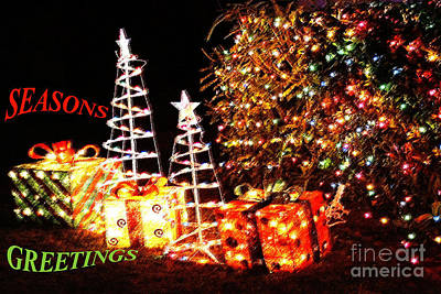 Photograph - Seasons Greetings Card by Gary Brandes