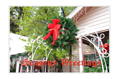 Photograph - Seasons Greetings Christmas Arbor by Audreen Gieger