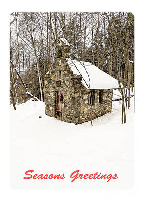 Stowe Vermont Photograph - Seasons Greetings Christmas Card by Edward Fielding